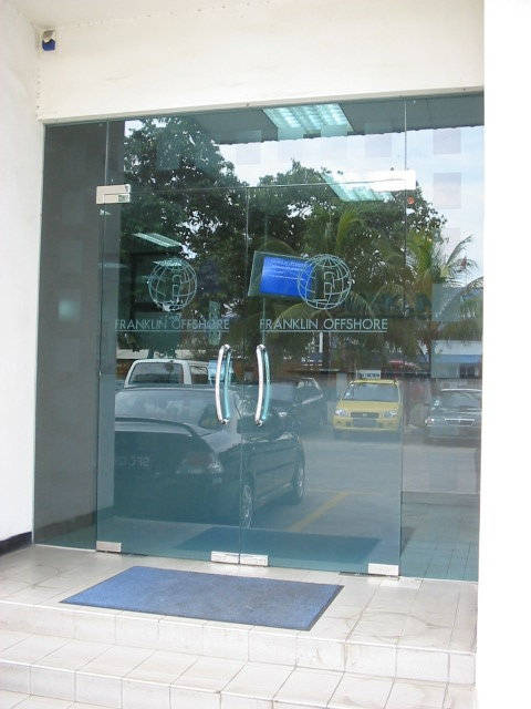 Office Door Fixed Panel Glass Point Construction Pte Ltd